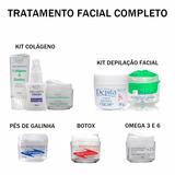 Kit Hidratação Botox Rosto Cremes Hidratantes Limpeza P Pele