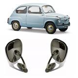 Espejo Exterior Torino Fiat 600 800 1500 Nuevo Metal Cromado