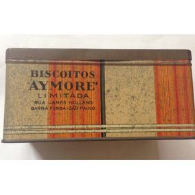 Lata Antiga De Biscoitos Aymore - Antiguidade