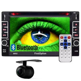 Central Multimídia 2 Din 6.2 Bluetooth Tv Digital Câm Ré Gps