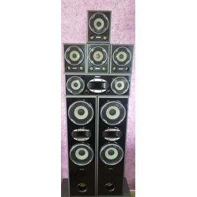 Kit 07 Caixas Sony Muteki Black Piano 140w Cada