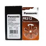 Panasonic Pr312 / Pr41 60 Baterias Aparelho Auditivo