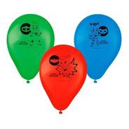 Balão - Bexiga Pj Masks Pacote Com 25 Un
