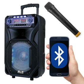 Caixa Amplificada Bluetooth 400w Rms Sd Pendrive Mic Sumay