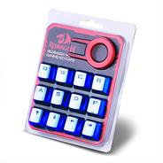 Kit 12 Teclas Keycaps  Tec Mecânico Redragon  Azul Cromado
