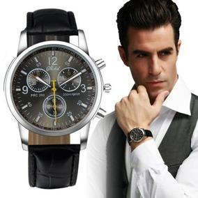 Relógio De Pulso Masculino Luxo Importado Preto