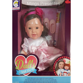Boneca Dolls With Love Vestido Rosa 2057 Cotiplás Original
