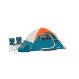 Casa Domo Campaña Acampar + 2 Sillas Plega + 2 Bolsa Dormir