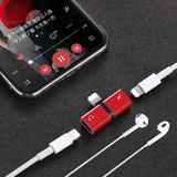 Adaptador Duplo Iphone 7 8 Plus X Fone + Carrega Lightning