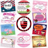 Adesivos Rótulos Etiquetas Personalizados Festa Infantil