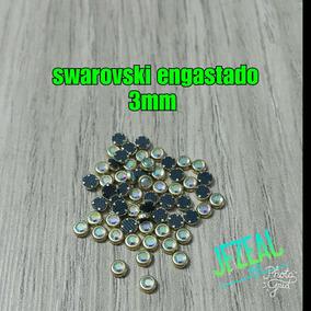 Cristal De Swarovski Con Base Metálica 3mm