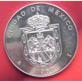 Medalla México Monumentos Mexicanos Año 1962 Plata