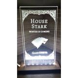 Luminária Game Of Thrones 6 Brinde Porta Copos Personalizado