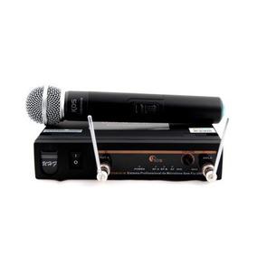 Microfone Sem Fio De Mao Mao Bivolt Uhf Kadosh Kdsw481m 12x