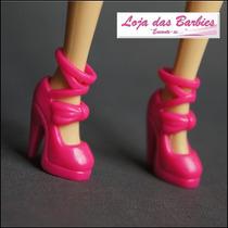 Sapatinho Fashion Para Boneca Barbie * Sapato Pink Sandália