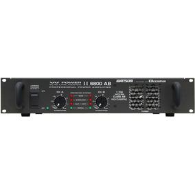 Amplificador De Potencia Ciclotron W Power Ii 6800 Ab