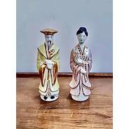 Antiguas Figuras Japonesas De Porcelana