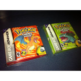 2 Cajas Customs Para Juegos Pokemon Firered + Leafgreen