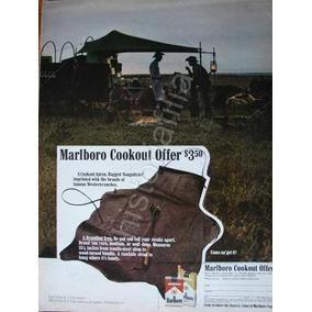 Hoja De Publicidad Antigua Cigarros Marlboro 1970 Mandil