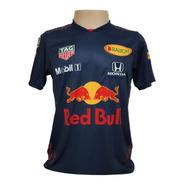 Camiseta Verstappen Red Bull 2021 - Azul-escuro