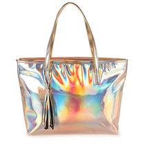 Bolsa Shopping Bag Lara - Dourado(a)