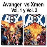 Paquete-avanger Vs X-men, Vol.1 Y 2 Deluxe Pasta Dura-nuevo