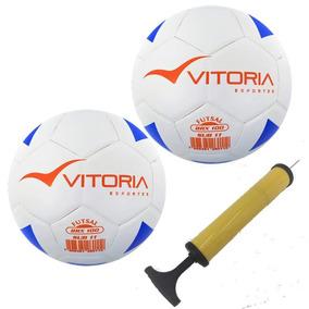 d1ebb63ba9b57 Kit 2 Bolas Futsal Vitoria Brx 100 Sub 11 Mirim Bomba Ar