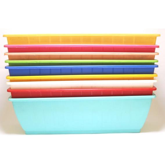 5 Macetas Jardinera Aitana 30cm Super Oferta Varios Colores