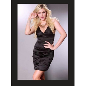 Vestido Negro Elegante Satin,