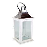 Lanterna Inox G Branca| 18 Larg X 37 Alt X 18 Prof