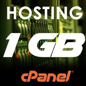 Web Hosting Hospedaje Cpanel 1 Gb + Dominio.com Por 1 Año