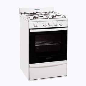 Cocina Volcan 55cm Blanca Autolimpiante Xclusivos