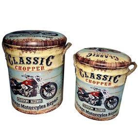 banqueta ba vintage classic chopper ps puff porta objeto
