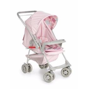 Carrinho De Bebe Galzerano Milano Reversível 2 Rosa Bebê