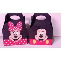 Cajitas Dulceras Para Mesa De Dulces Mickey Minnie Mouse