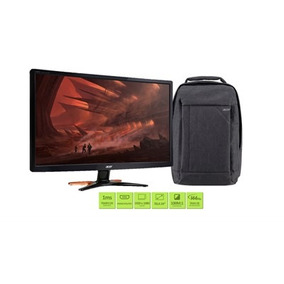 Monitor Gamer Acer Gn246hl 24 Full Hd 144hz + Mochila Gray