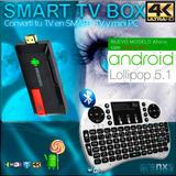 Android 5 Tv Mini Pc Smart Converti Ultra Hd 4k 2gb Teclado!