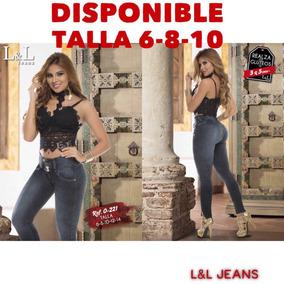 Jeans Pantalones Levanta Cola Talle Alto Lyl Para Damas