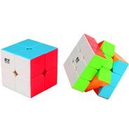 Cubo Rubik Qiyi Warrior W + Qidi 2x2 + Lub + 2 Bases Caba