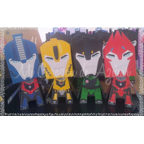 10 Cajitas Golosineras Transformers