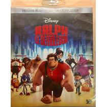 Bluray 3d Ralph El Demoledor Disney Usado