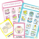 Loteria Para Baby Shower Juegos Kit Imprimible. Hermoso!