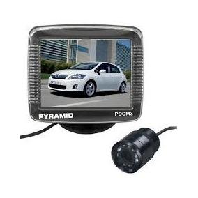 Camera De Re Com Monitor Pyramid Pdcm3 Visao Noturna Lcd