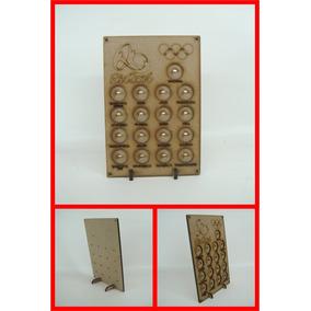 Kit Com 5 Porta Moedas Olimpíadas Rio 2016 17x25cm Mdf Crú