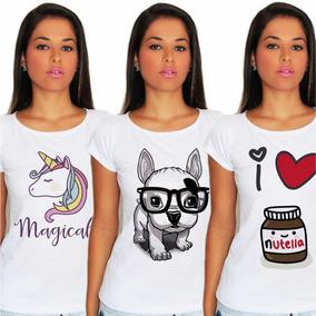 Kit 10x T-shirts Blusas Feminina Para Revenda Atacado