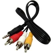 Cable Audio Stereo Video 3.5 Mm Miniplug 3 Rca Av Compuesto