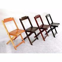 Kit Com 4 Cadeiras Bar E Restaurante Dobrável