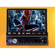 Rádio Automotivo C/ Dvd Tela 7.0 Retrátil Usb/cartão Sd/tv