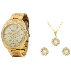f3ba3370f3e Relogio Feminino Dourado Baker - Relógios De Pulso no Mercado Livre ...