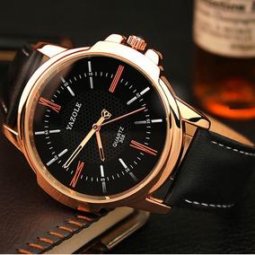Relógio De Pulso Masculino Yazole Social Quartz Luxo + Caixa